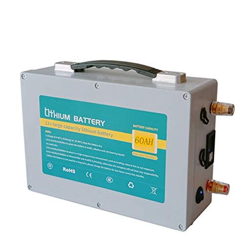 ROZIN Paquete De Batería 12V 100Ah Lifepo4 12V Batería De Litio BMS Integrada para Motor Eléctrico De Barco, Carrito De Golf, Sistema Sola Generador,60AH