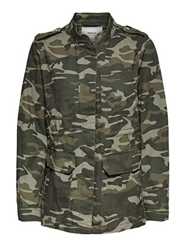 Only Onlohio Utility Jacket CC Otw Chaqueta, Aceituna Negra, L para Mujer