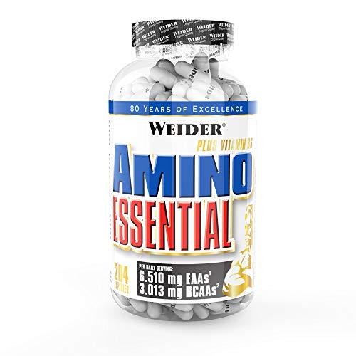 Weider Amino Essential, 6,510 mg EAA's, 3,013mg BCAA's per serving, Muscle Recovery 102 Capsules