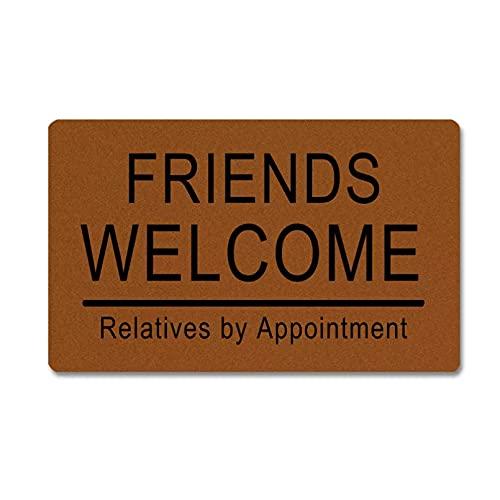 RQJOPE Alfombrilla de Entrada para el Suelo, Felpudo Divertido para Amigos, parientes bienvenidos, con Cita previa, Alfombrilla de Goma para Puerta, Decorativa para Interiores y exteriores-50x80cm