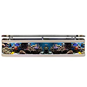 Living Room Background Wall TV Cabinet Ecological Fish Tank Square Free Change Aquarium Glass Coffee Table G...