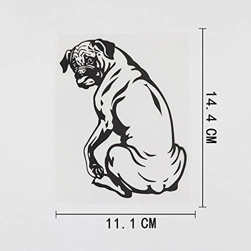 FAFPAY Sticker de Carro 11,1 cm x 14,4 cm Lindo Boxer decoración Animal Perro calcomanía Vinilo Coche Pegatina Negro/Plata 8a-0537Negro