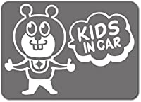 imoninn KIDS in car ステッカー 【マグネットタイプ】 No.66 グッドさん (シルバーメタリック)