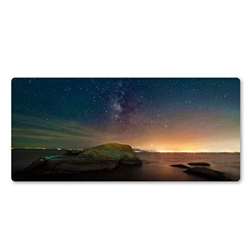Rubberen muismat sterrenhemel mooie muismat abstracte kunst persoonlijkheid spel accessoires grote tafel pad rubber mat 400 * 900 * 3Mm