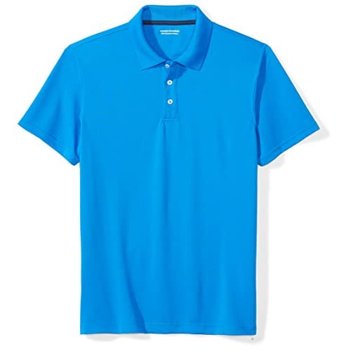 Amazon Essentials Slim-Fit Quick-Dry Golf Polo Shirt, Blu (Electric Blue), Medium (Taglia Produttore:):)
