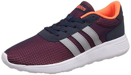 adidas NEO Herren Lite Racer Low-Top, Mehrfarbig (Solar Orange/Clear Onix/Solar Orange), 44 EU