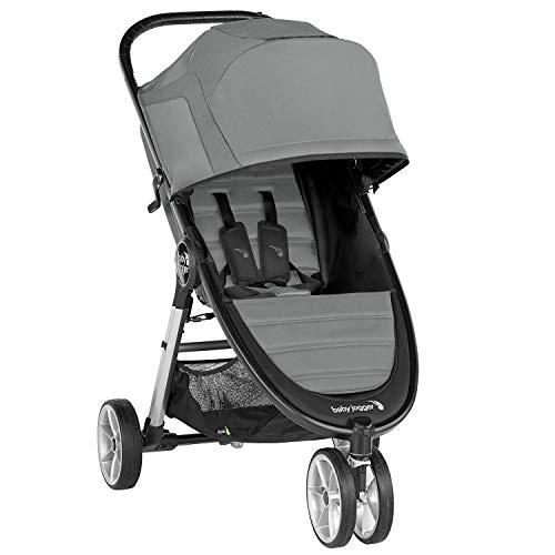 Baby Jogger City Mini 2 Pushchair | Lightweight, Foldable & Compact 3-Wheel Stroller | Slate (Grey)