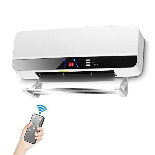 FC-Winter 2000W Calentador de la Pared del hogar Montado Baño energía a Prueba de Agua salvadora con Mando a Distancia, Dormitorio para el hogar