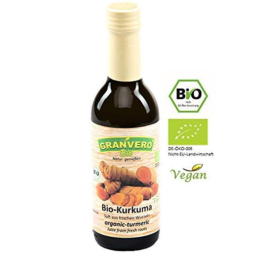 GRANVERO, Bio Kurkuma-Saft, 1 Flasche 250 ml, 100% Direktsaft DE-ÖKO-006