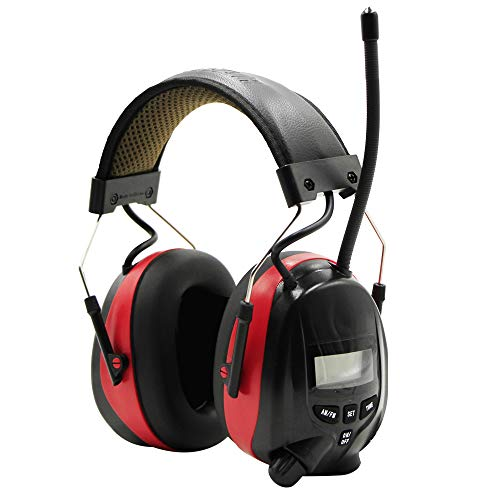 FM Radio Headphone with Digital Display, Ear Protection Safety Ear Muffs