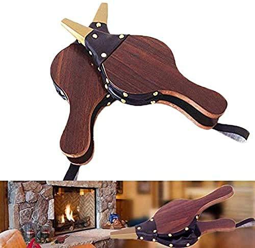 2 Stück Mini Manuelles Kamingebläse, Vintage Handbalg Dunkelbraunes Kamingebläse Traditioneller Herd Feueranzünder Lüfter Für Home Diy Fireside Accesso