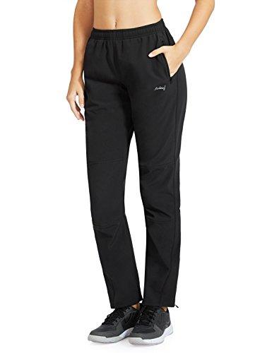 Baleaf Women's Windproof Cycling Fleece Thermal Winter Pants Black Size L