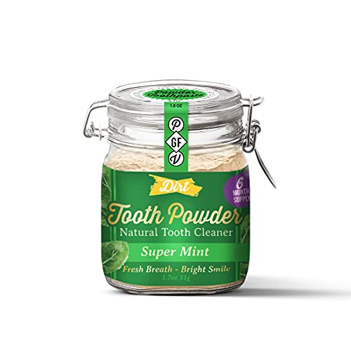 The Dirt Gluten & Fluoride Free Tooth Powder - Organic Teeth Brightening with Essential Oils | No...