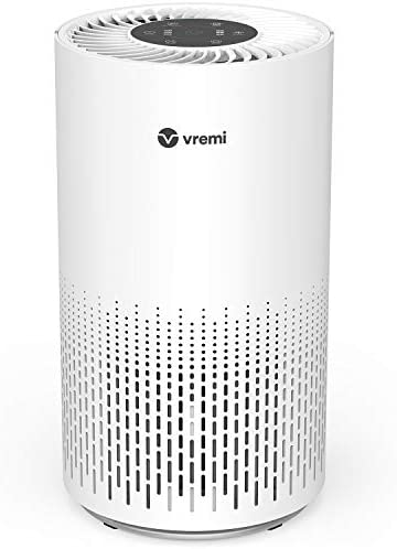 Vremi Premium True HEPA Air Purifier for Large Rooms – Removes 99.97% of Airborne Particles with H13, Activated Carbon and 3-Stage Filtration – Have A Great Air Day
