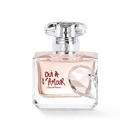 Yves Rocher OUI À L'AMOUR Eau de Parfum, blumig orientalischer Damenduft, mit Rosen-Extrakt, 1 x Zerstäuber 30 ml
