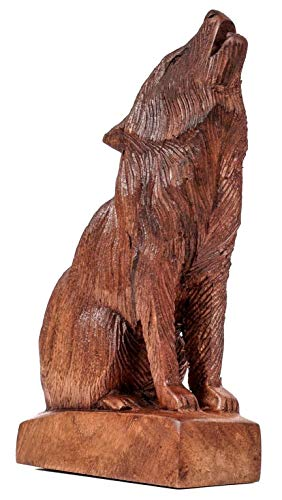 Windalf GERI - Figura de Madera (20 cm, Hecha a Mano)