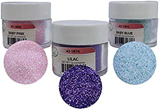 Techno Glitter - 3-Color Assortment: Baby Pink, Baby Blue & Lilac