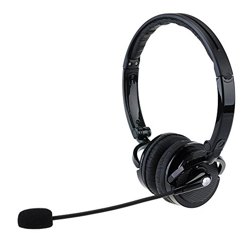 VicTsing Auriculares Gaming Bluetooth plegable con Boom flexible micro-supporte Wireless Music Streaming y manos libres para IOS y Android, PS3, MP3, PC etc