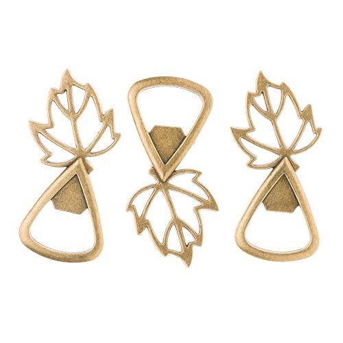 Ella Celebration Gold Leaves Wedding Favors for Fall Autumn Leaf Bottle Openers (Gold)