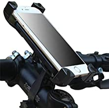 Universal Bike Phone Mount Holder for Bicycle Handlebar Cell Protection – Great for Dirt Motorcycle Road Exercise Bicycles – Fits all Smartphones (Balck red)