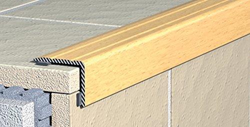 Cantonera-perfil paso-ángulos de escaleras - autoadhesivas - Aluminio anodizado: Bronce, 25 mm x 20 mm (C-03)