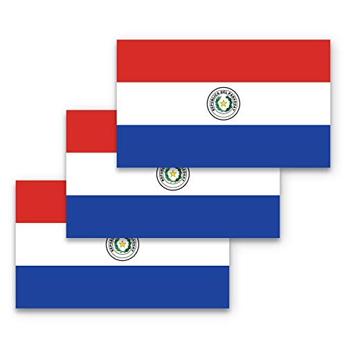 3x5 Paraguay Flagge Aufkleber 3-Pack Made with Durable Waterproof Materials Fahne of Paraguay Bumper Sticker Paraguaya Flag Bumper Sticker Paraguay Sticker Paraguay Sticker Paraguay Sticker