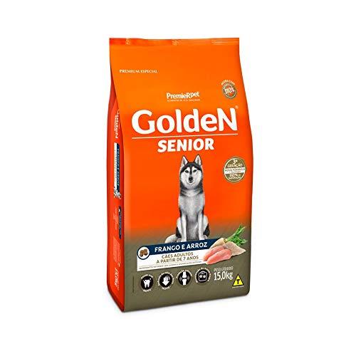 Ração Golden Fórmula Senior para Cães Adultos Sabor Frango e Arroz, 15kg Premier Pet Para Todas Grande Idosos,