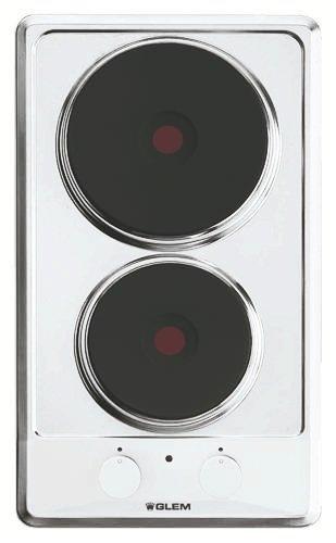 Plaque Electrique 2 feux-Glem GT320WH - Plaque de cuisson Electrique - Dimensions produit (LxP en cm) : 29 / 51