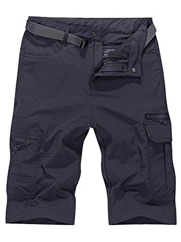Men's Outdoor Water-resistant Quick Dry Cargo Shorts Dark Grey Size 4XL - US 38