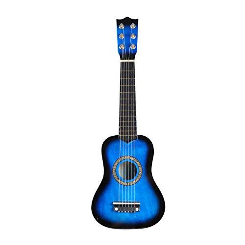 STOBOK Guitarra acústica de 21 Pulgadas, tamaño pequeño, Guitarra de Madera portátil para niños, niños Principiantes, Juguete (Azul)