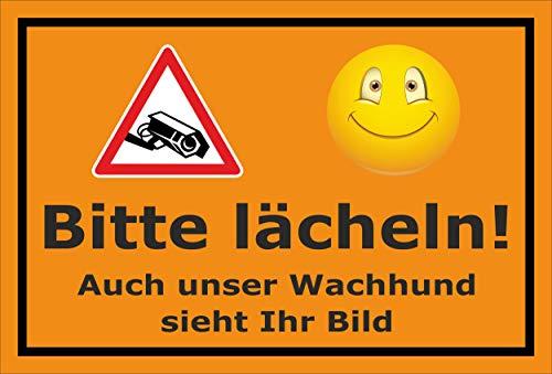 Melis Folienwerkstatt sticker schild - Gelieve glimlachen - S00348-022-E