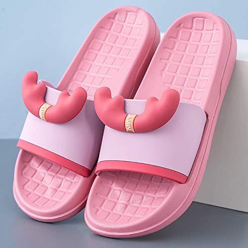 Flat Slipper Zapatillas De Casa,Chanclas para Mujer Talla 4,BañO De Mujeres con Desodorante Y Zapatilla.-37_q