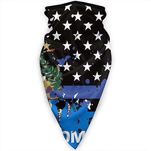 Gwrix Magische sjaal, halsketting, multifunctionele halsdoek, ademend hoofdwear, halfgezicht, Minnesota Usa dunne rode lijn vlag sport bandana, Half Face sjaal, mannen vrouwen mondbescherming