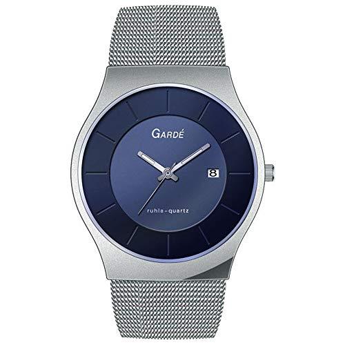 Garde Herren Uhr Fashion 82311 Edelstahl Armband-Uhr Elegance Silber UGA82311