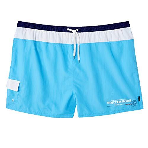 eleMar Herren Badehose kurz in hellblau-weiß-Marineblau großen Größen bis 10XL, Größe:5XL