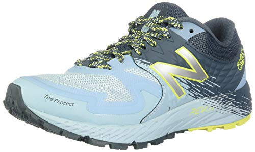 New Balance Women's Summit K.O.M. V1 Running Shoe, Orion Blue/Summer Sky/Sulphur Yellow, 10 M US