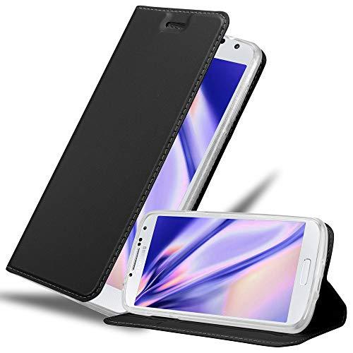Cadorabo Funda Libro para Samsung Galaxy S4 en Classy Negro - Cubierta Proteccíon con Cierre Magnético, Tarjetero y Función de Suporte - Etui Case Cover Carcasa