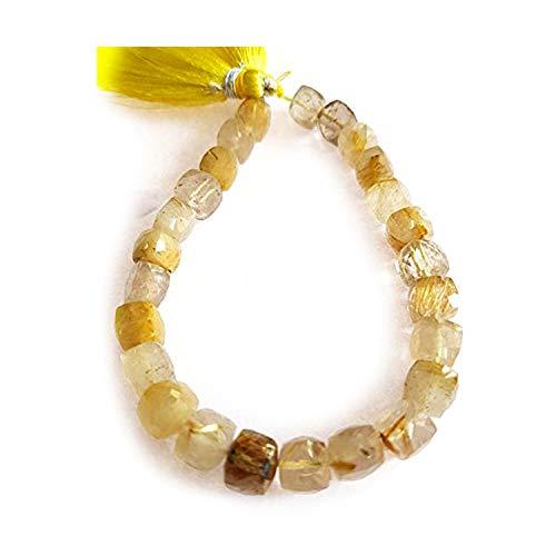 Neerupam Collection africano marr/ón naturales tigre piedra preciosa del ojo cuentas ovales lisas doradas 13 pulgadas cap/ítulo 5 l/íneas sueltas mani