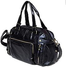 Faux Leather Duffle Bag For Men,Black - Fashion Duffle Bags