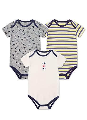 Froerley Body Bebe Niño, Ropa Bebe Niños 18 Meses Verano, Bodies Bebe Manga Cortas, Algodón, Bebes Regalos