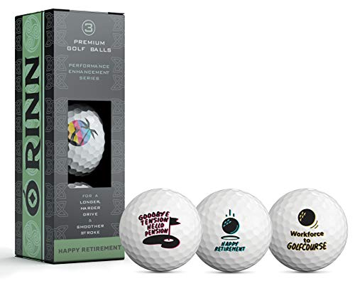 Retirement Novelty Golf Ball 3 Pack - Gifts for Golfers - Coworkers -...
