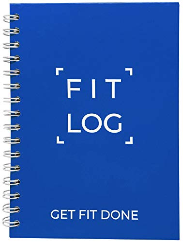 Fitness Journal & Workout Planner - Designed by Experts Gym Notebook, Workout Tracker, Exercise Log Book for Men Women - Blue