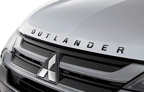 """BLACK Genuine Mitsubishi""""OUTLANDER"""" Hood Emblem Badge Decal Outlander 2015 2016 2017 2018 2019 2020"""