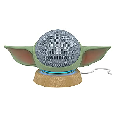 All-new Echo Dot (4th Gen) - Twilight Blue with All New, Made for Amazon, featuring The Mandalorian Baby GroguTM-inspired Stand for Amazon Echo Dot (4th Gen)