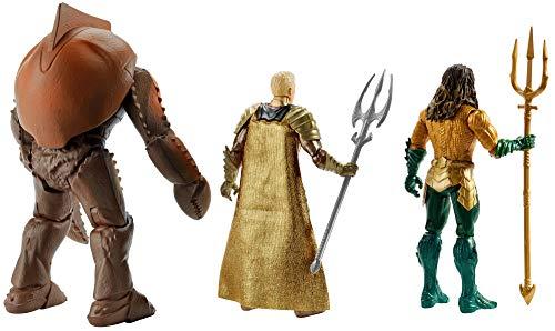 JUSTICE LEAGUE- Pack de 3 Figuras Aquaman, Multicolor, 15 cm (Mattel FWX38) 2