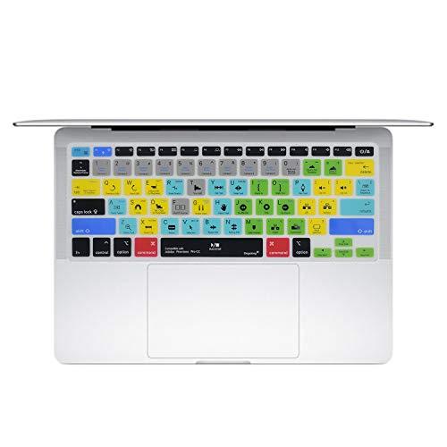 Dogxiong Adobe Premiere Pro CC Shortcuts Hot Keys PS-Silikon-Tastaturabdeckung Tastaturschutz für MacBook Air 13 Zoll (No-Touch-ID), für MacBook Pro 13 Zoll / 15 Zoll (2015.