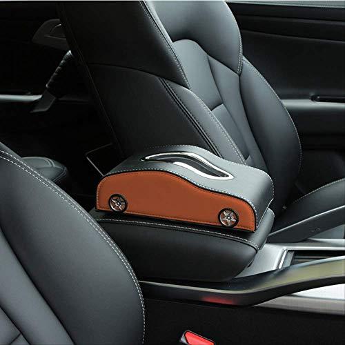 ZHAOYAN Auto Papier Handdoek Doos Auto Papier Handdoek Doos Papier Tekening Doos Auto Met Armsteun Doos Multi-Functie Parkeerkaart Papier Pompdoos 23.5 * 13 * 7.4 Zwart