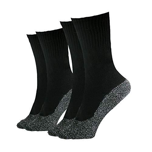 35 Below Ultimate Comfort Socks | Aluminized Thread, Soft Nylon Knit Warming Socks (Black, Large)
