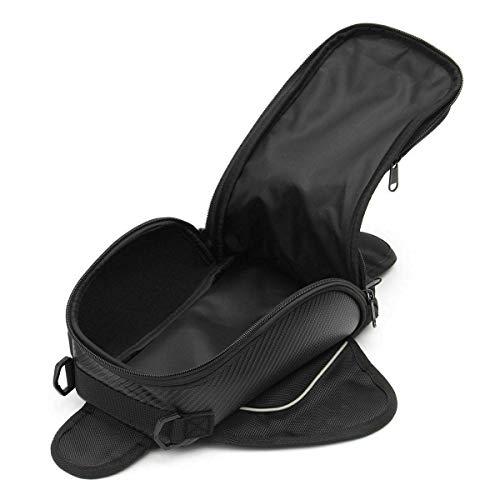 LNIEGE Bolsa Impermeable Bolsa sobre depósito de una Silla Negro Motocicleta Oxford Magnética