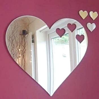 Acrylic Joined Love Hearts Mirror 12cm X 8cm sendmeamirror